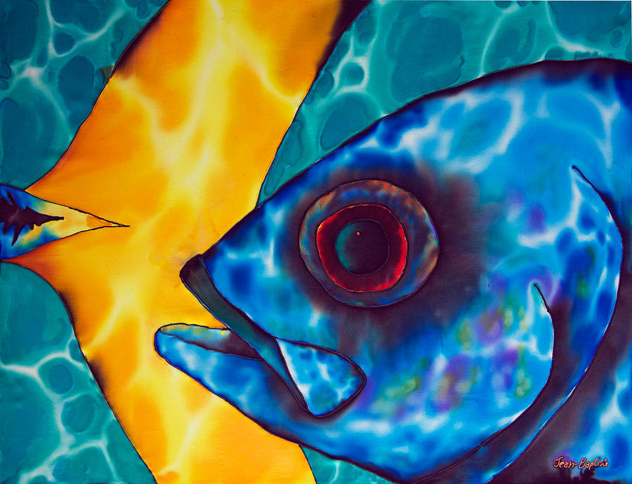 Reef Fish Painting - Horse -eyed Jack by Daniel Jean-Baptiste