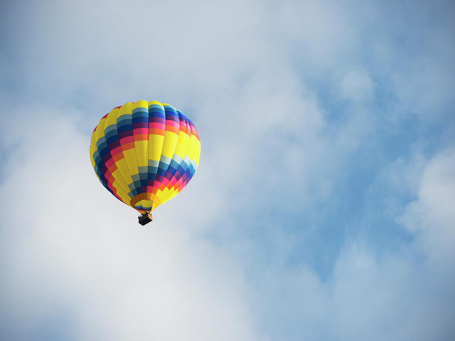 Hot Air Balloon In A Blue Sky Photograph by Wbritten