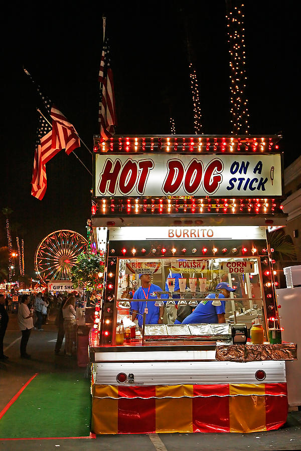Hot Dog Photograph - Hot Dog On A Stick by Peter Tellone