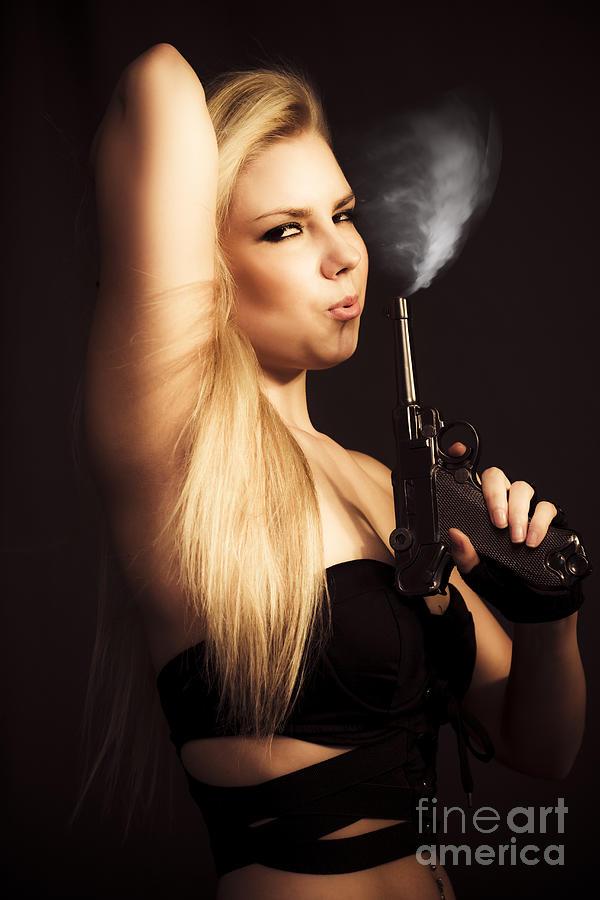 Agent Photograph - Hot Shot Woman by Jorgo Photography - Wall Art Gallery