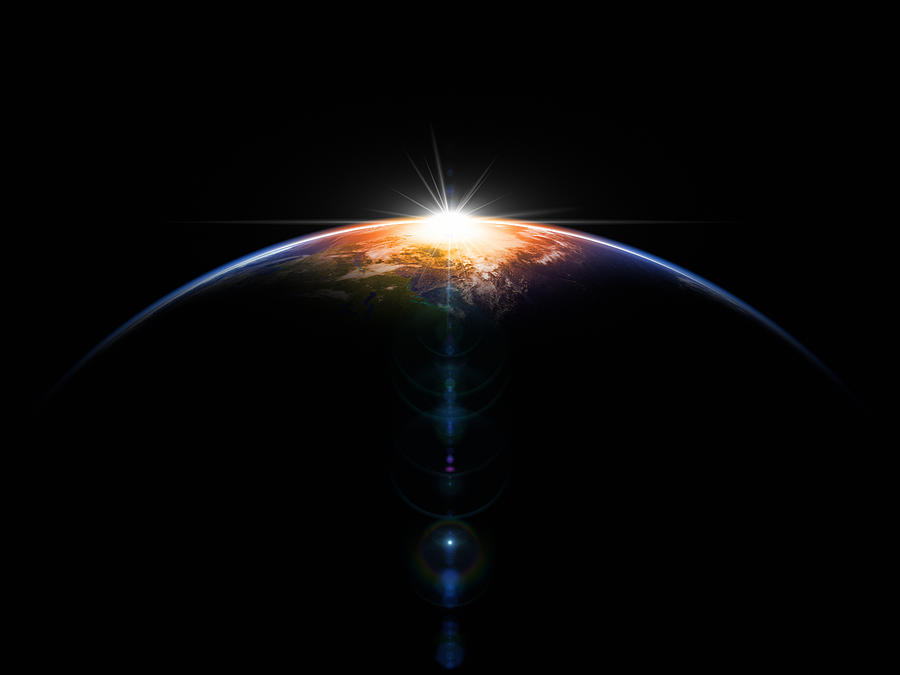 Hot Sunrise In Space Photograph by BlackJack3D