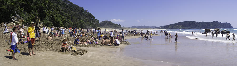 New Zealand Photograph - Hot Water Beach by Tim Mulholland