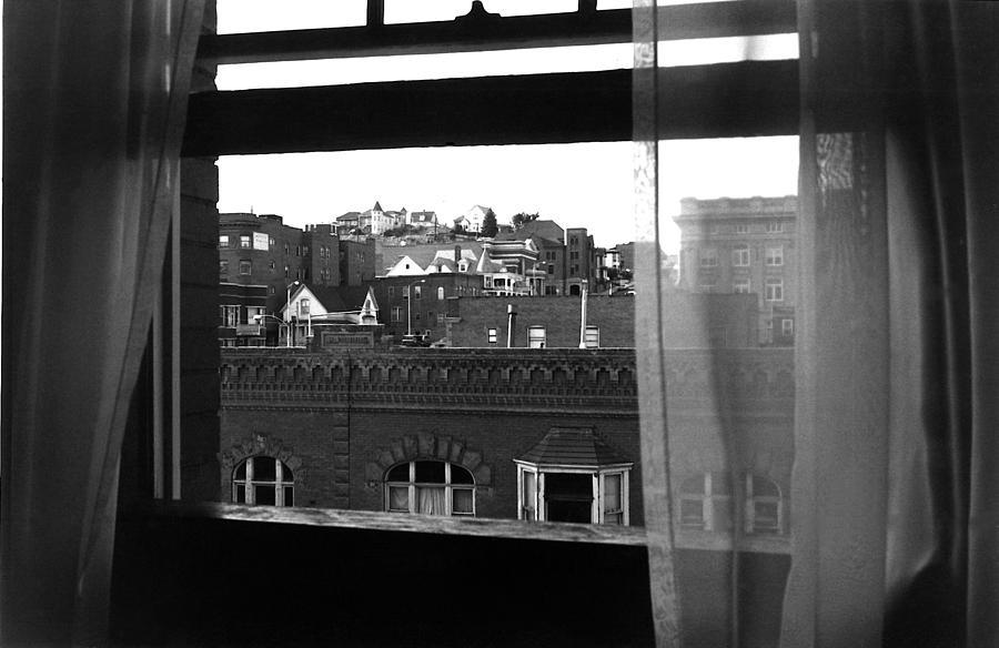Hotel Window Butte Montana 1979 Photograph by David Lee Guss