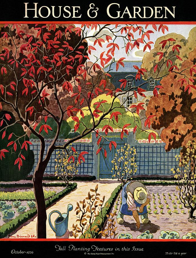 House And Garden Fall Planting Number Cover Photograph by Pierre Brissaud