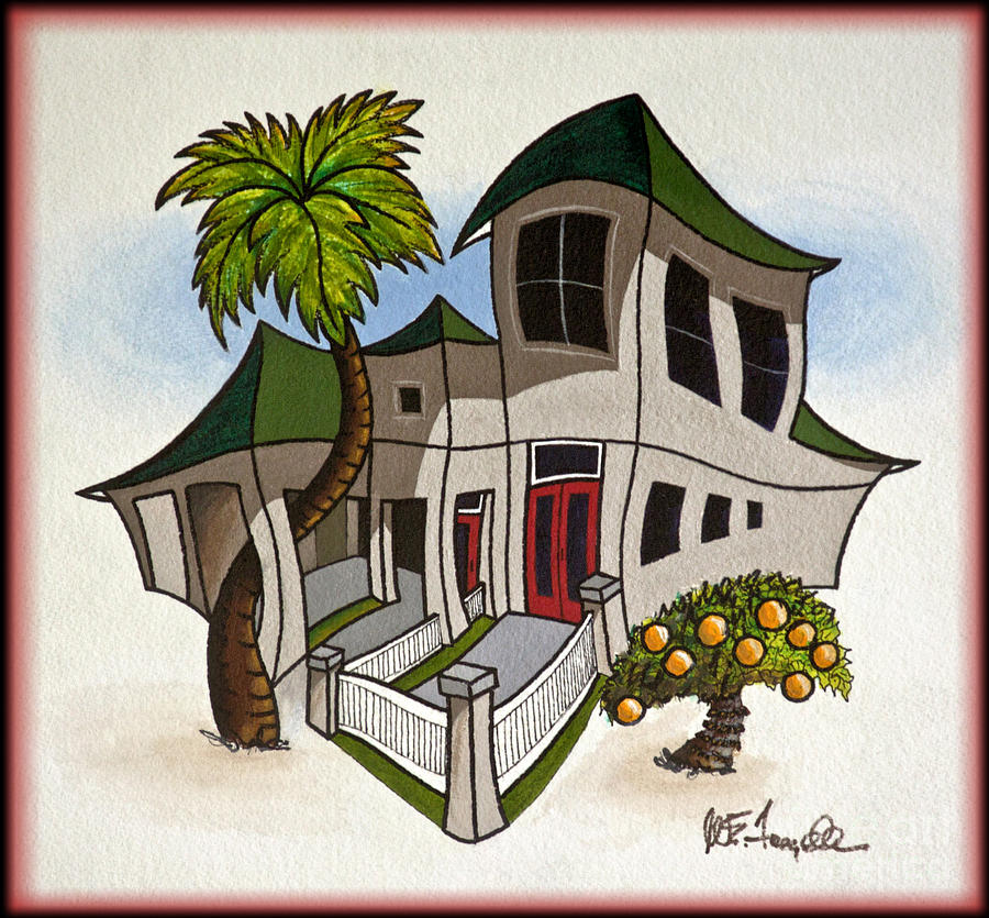 House Painting - House Caricatures For Sale by Walt Foegelle