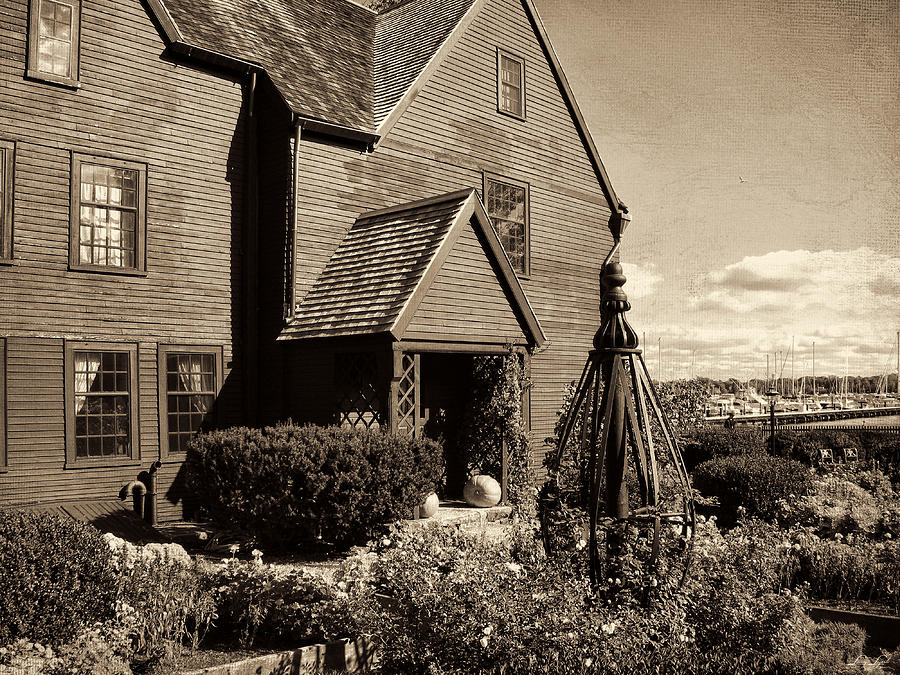 Massachusetts Photograph - House Of The Seven Gables by Lourry Legarde