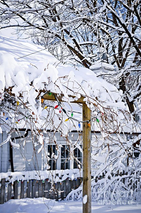 House Photograph - House Under Snow by Elena Elisseeva