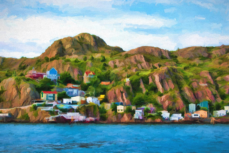 Atlantic Photograph - Houses On Hillside by Boss Photographic
