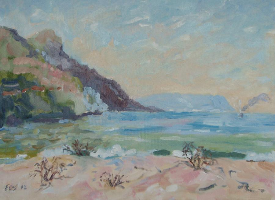 Seascape Painting - Hout Bay Beach by Elinor Fletcher
