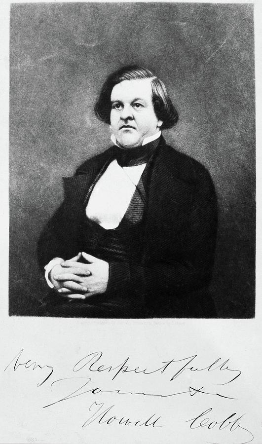 1850 Photograph - Howell Cobb (1815-1868) by Granger