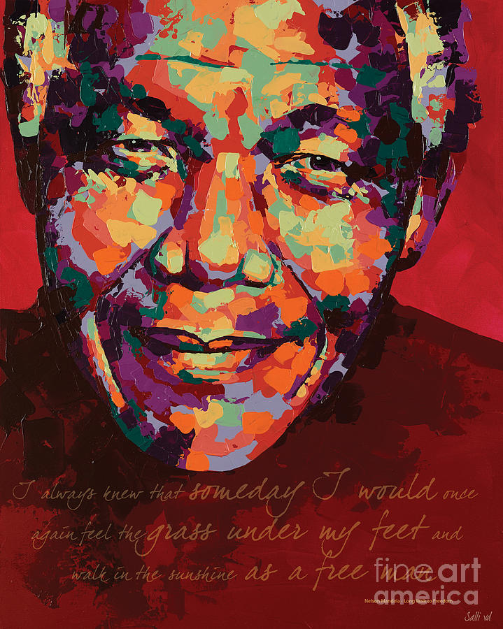 Nelson Mandela Painting - I Always Knew by Salli Van Druten