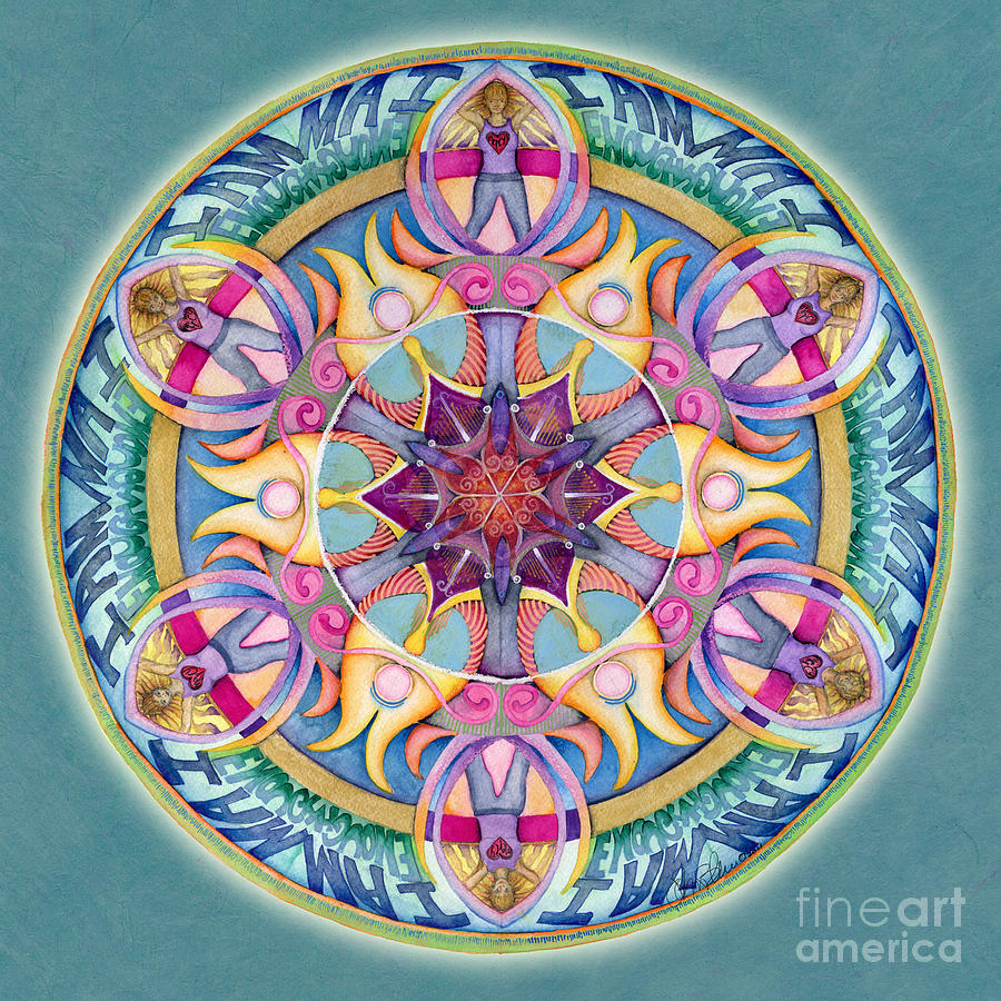 I Am Enough Mandala by Jo Thomas Blaine