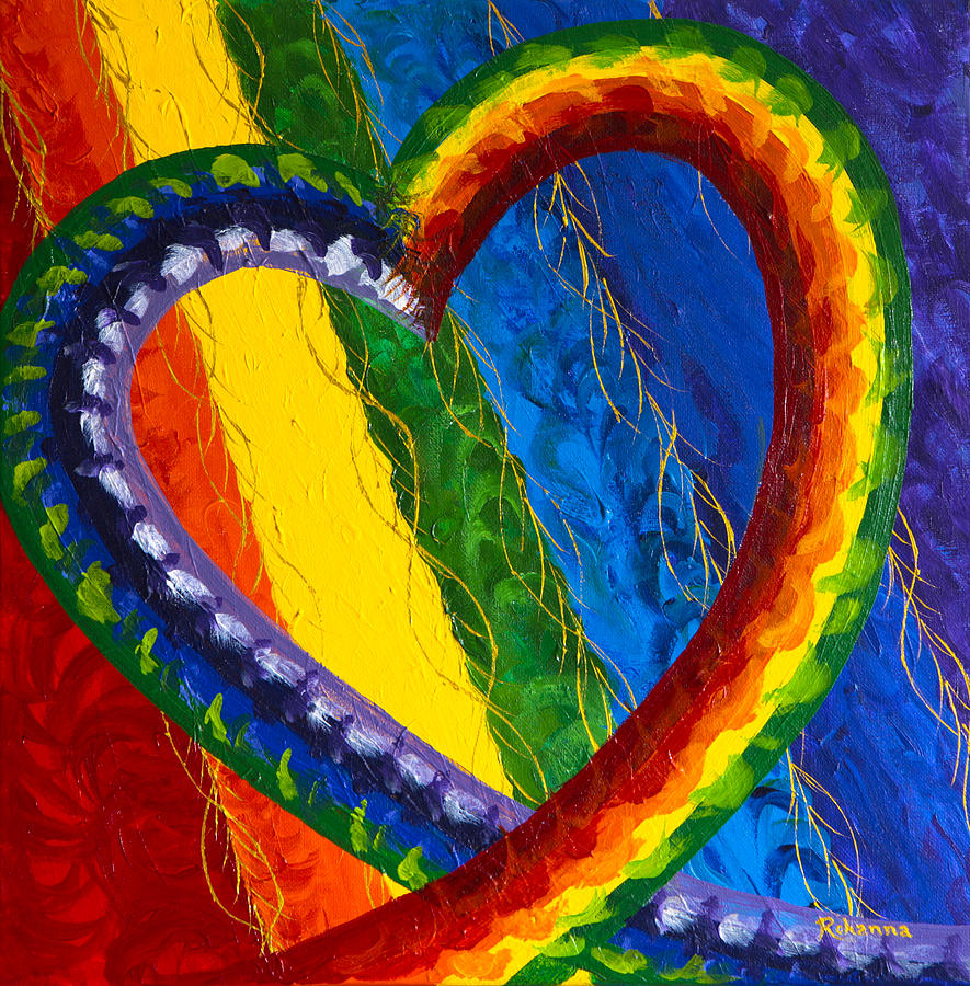 Chakras Painting - I Am Love by Judy M Watts-Rohanna