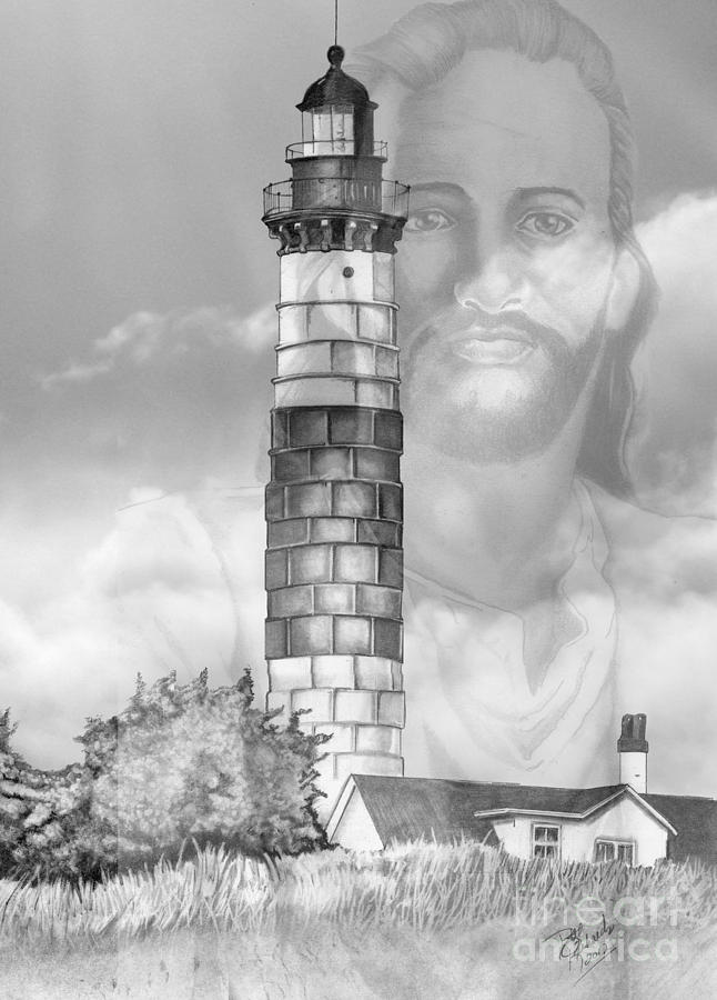 Jesus Drawing - I Am The Way by Bill Richards