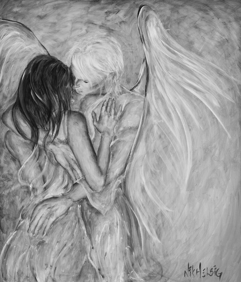 то, картинки ангела обнимающего крыльями конечно