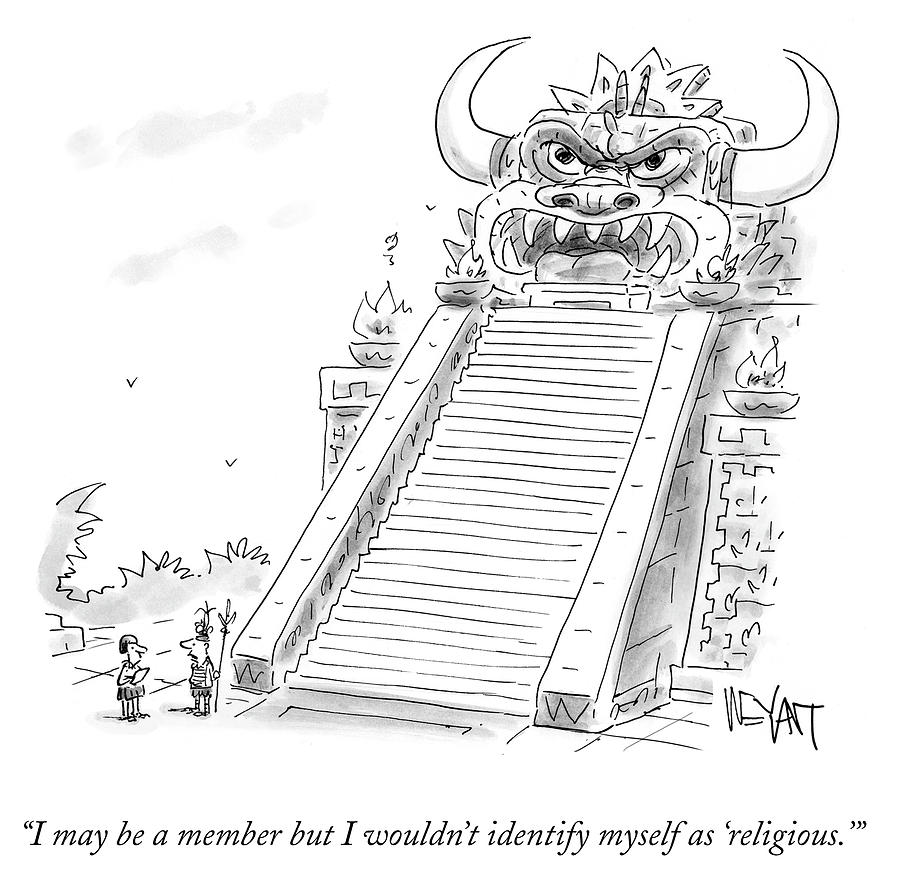 Cartoon Drawing - I May Be A Member But I Wouldnt Identify Myself by Christopher Weyant