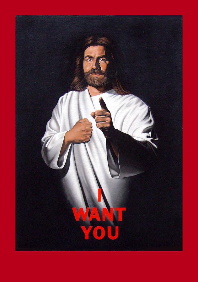 Jesus Painting - I Want You by Michael Di Nunzio