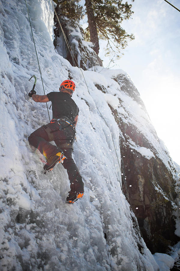 British Colombia Photograph - Ice Climbing by Christopher Kimmel