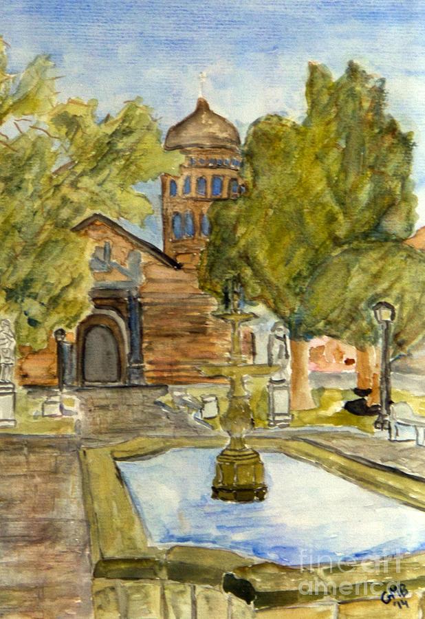 La Serena Painting - Iglesia En La Serena by Greg Mason Burns