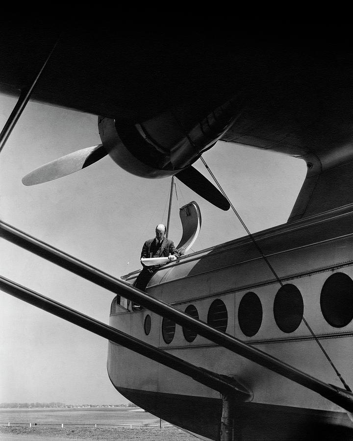 Igor Sikorsky On An Airplane Photograph by Lusha Nelson