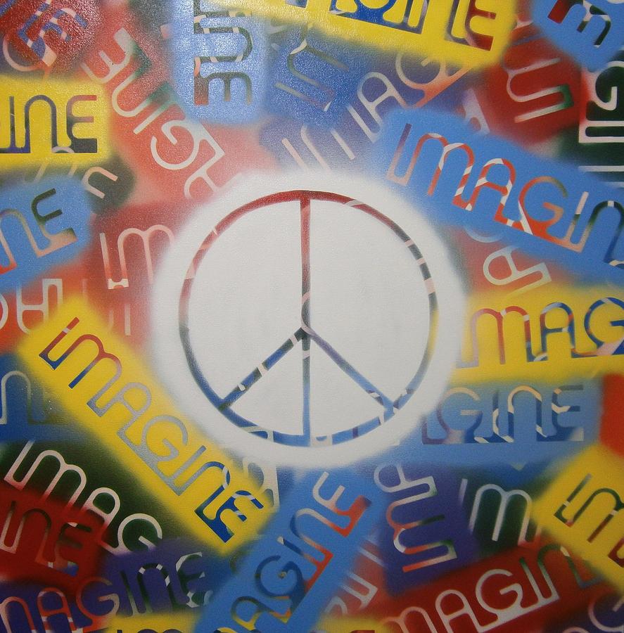 Imagine Painting - Imagine Peace by Drew Shourd