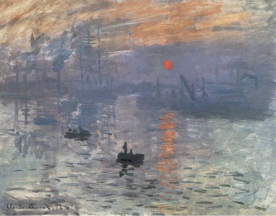 Artist Claude Monet Fine Art Poster Print of Painting Impression Sunrise