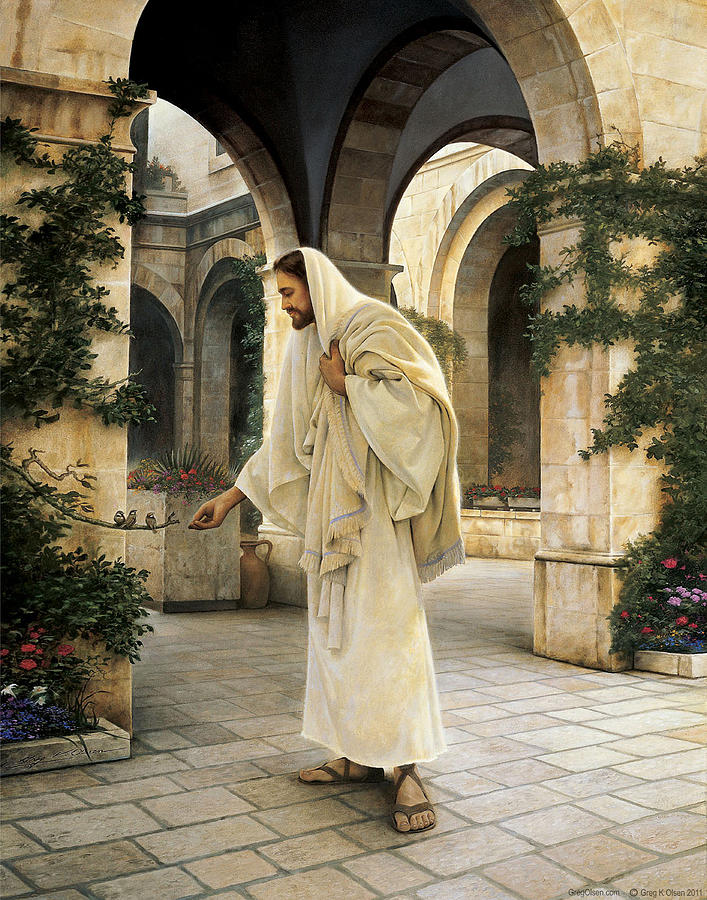 Jesus Painting - In His Constant Care by Greg Olsen