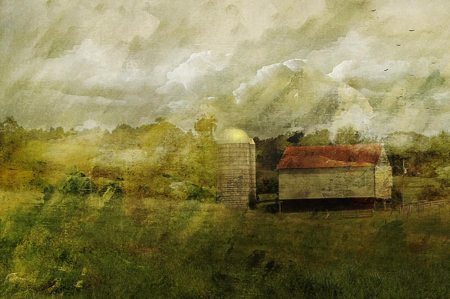 Barn Photograph - In The Distance by Kathy Jennings