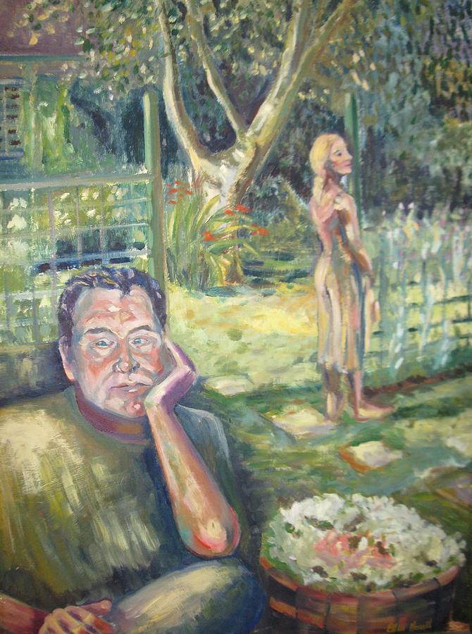 Garden Painting - In The Garden by Ellen Howell
