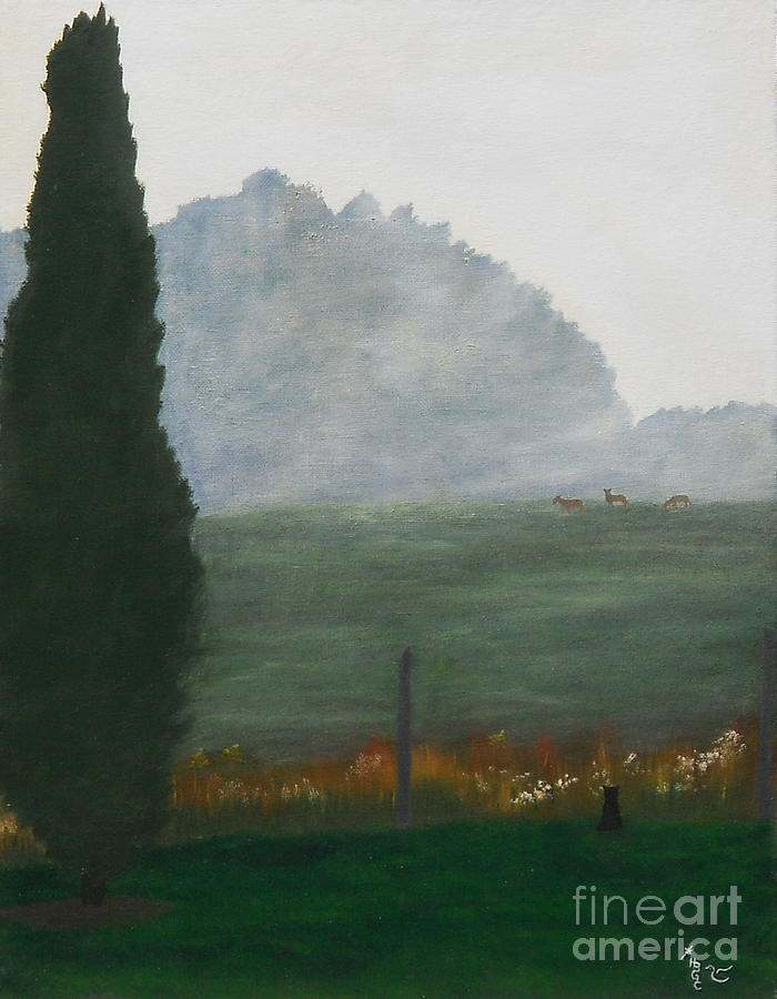 Landscape Painting - In The Morning Mist by Heather Chandler
