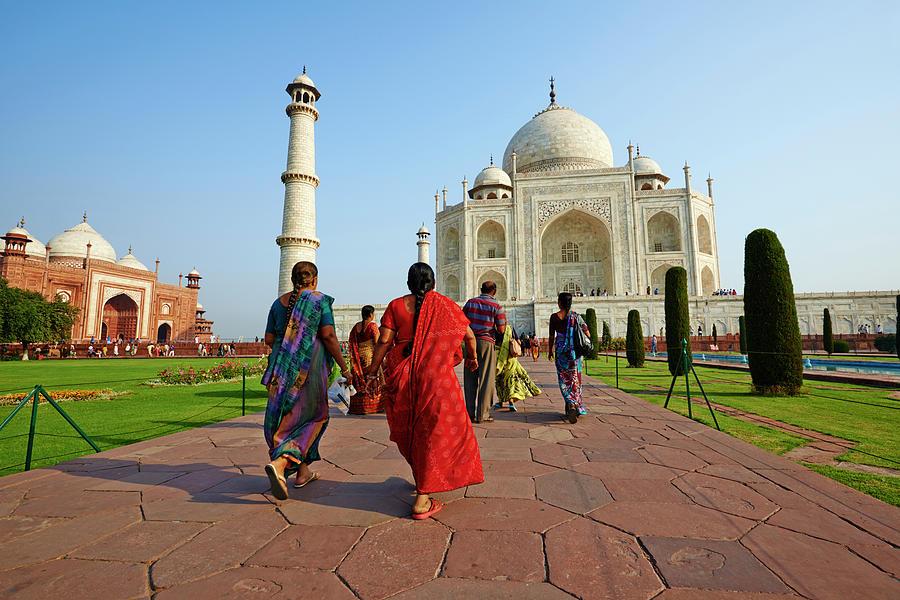 India, Uttar Pradesh State, Agra, Taj Photograph by Tuul & Bruno Morandi