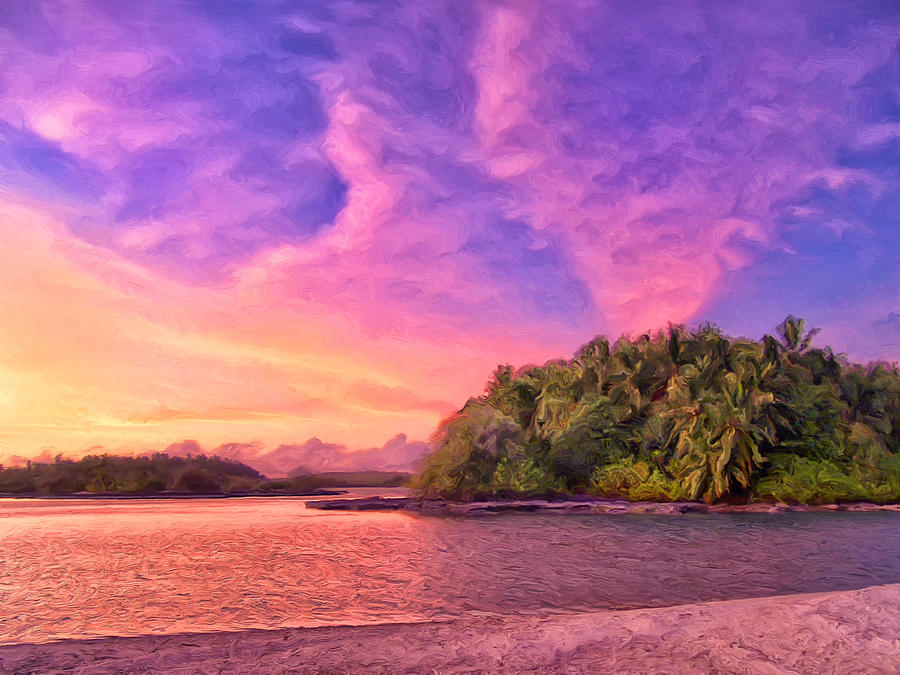 Indian Ocean Painting - Indian Ocean Sunset by Dominic Piperata