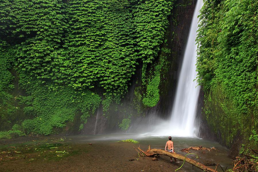 Indonesia, Bali, Waterfall Photograph by Michele Falzone