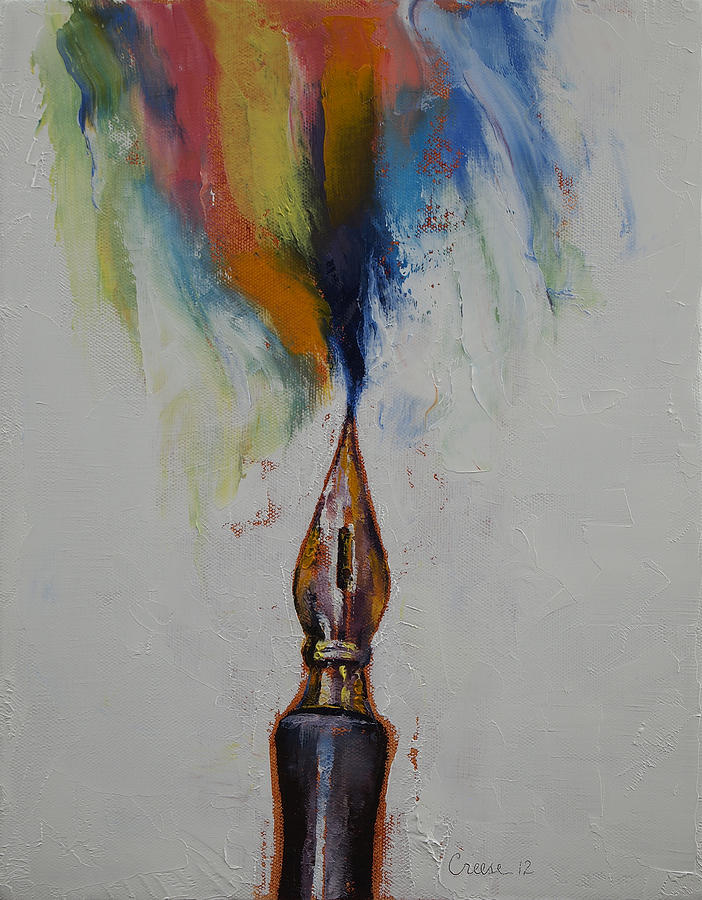 Fountain Pen Painting - Ink by Michael Creese