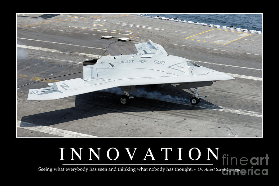 Horizontal Photograph - Innovation Inspirational Quote by Stocktrek Images