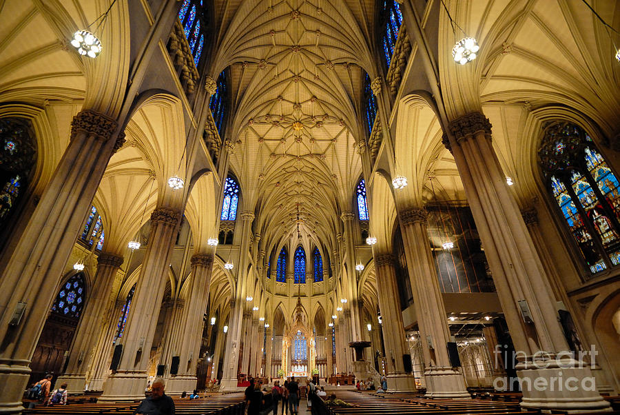 Altar Photograph - Inside St Patricks Cathedral New York City by Amy Cicconi