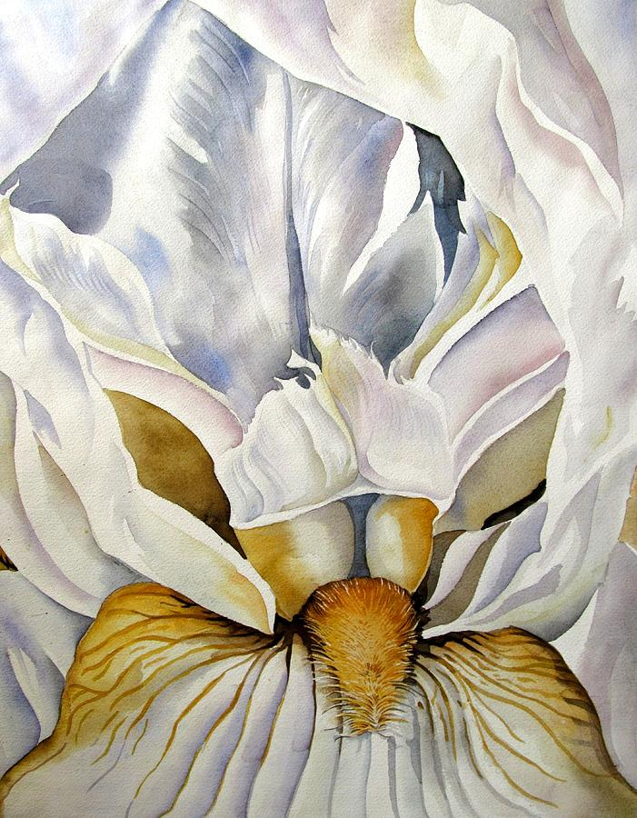 Watercolor Painting - Into The Iris by Alfred Ng