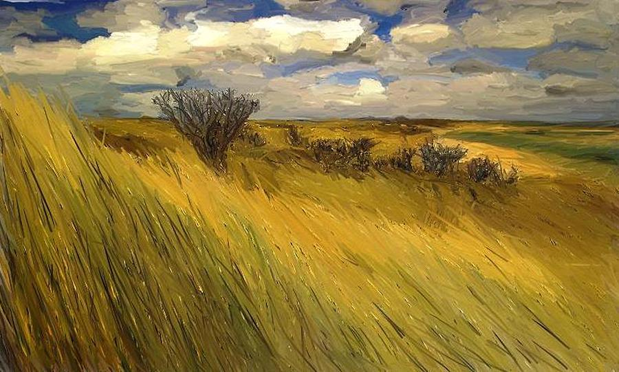 Iowa Painting - Iowa Prairie Grasses  by Randy Sprout