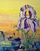 Iris Mixed Media by Karen Carnow