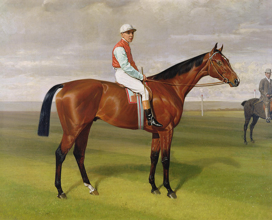 Racehorse Painting - Isinglass Winner Of The 1893 Derby by Emil Adam