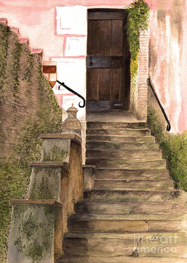 Door Painting - Italian Doorway by Nan Wright