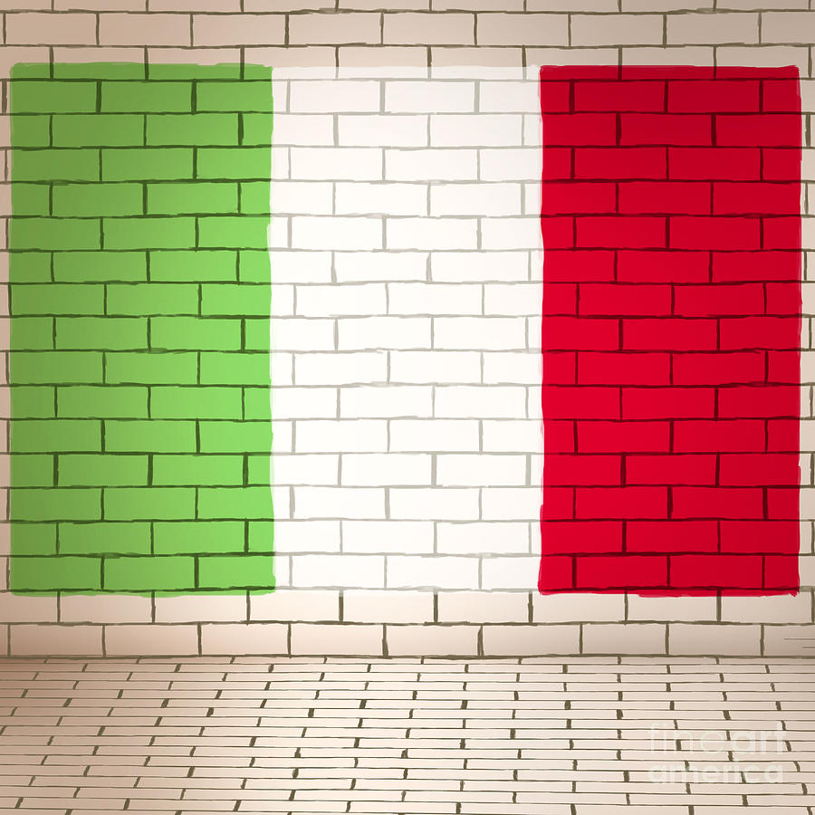 Italy Flag Brick Wall Background Photograph By Jorgo Photography