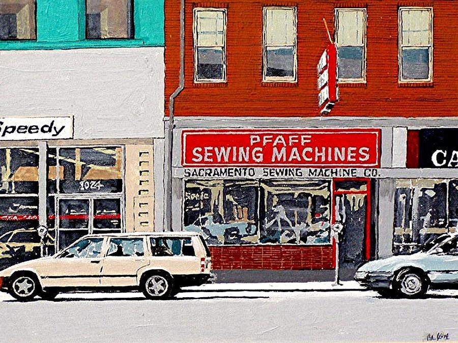 Sacramento Painting - J Street by Paul Guyer