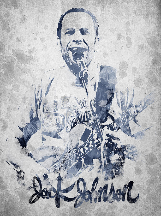 Jack Johnson Digital Art - Jack Johnson Portrait by Aged Pixel