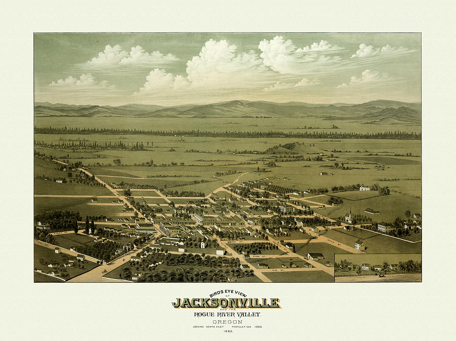 Antique Digital Art - Jacksonville Oregon by Gary Grayson