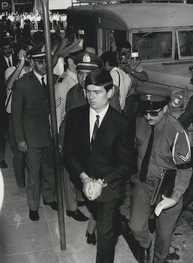 Retro Photograph - Jailed Arabs Await Skyjack Swap by Retro Images Archive