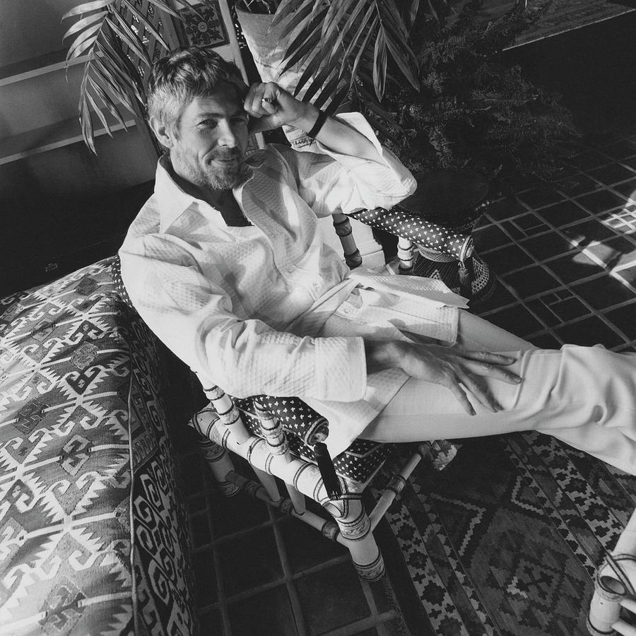 James Coburn Wearing A Bill Blass Shirt Photograph by Henry Clarke