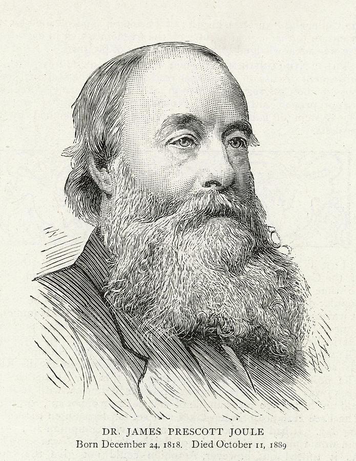 Joule Drawing - James Prescott Joule (1818-1889) by  Illustrated London News Ltd/Mar
