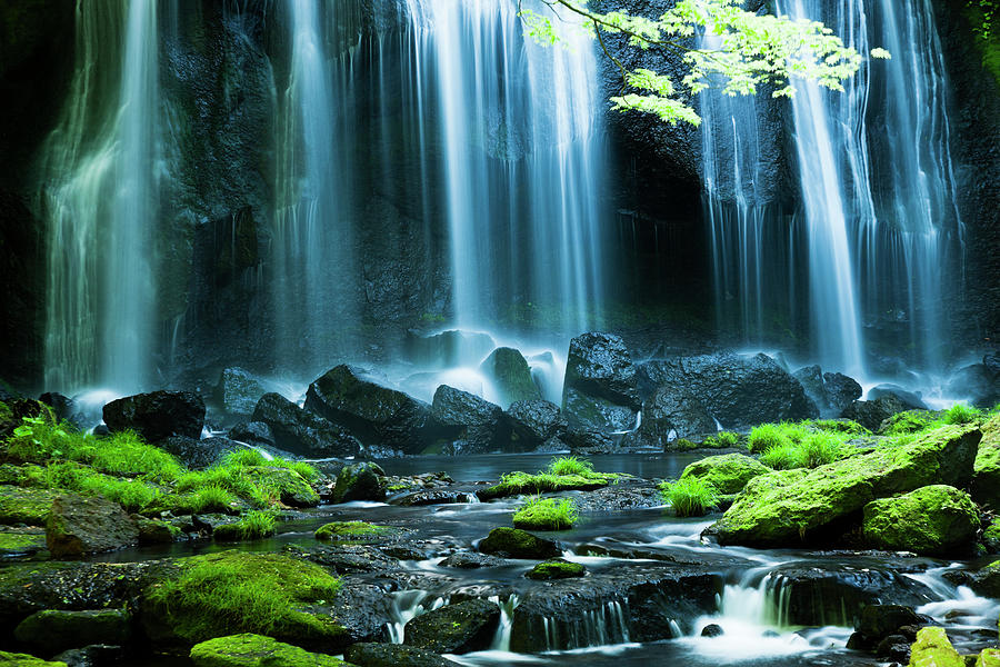 Japanese Waterfalls Photograph by Ooyoo