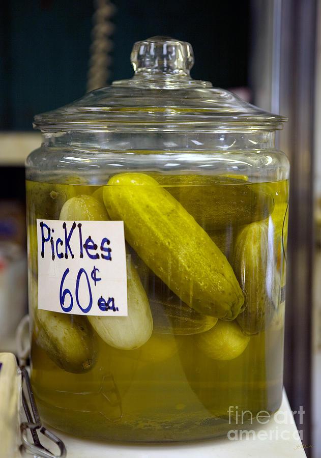 Food Photograph - Jar Of Pickles by Iris Richardson